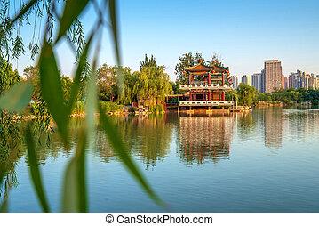antico, cinese, architettura