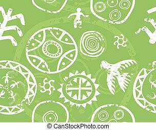 antico, dipinti, tribale, -, seamless, struttura, immitation, vettore, (petroglyph), roccia