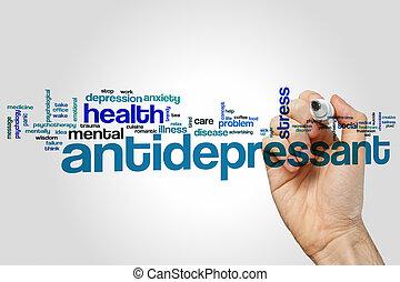Antidepressant word cloud
