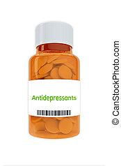 Antidepressants concept
