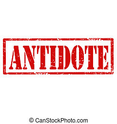 Antidote-stamp - Grunge rubber stamp with text...