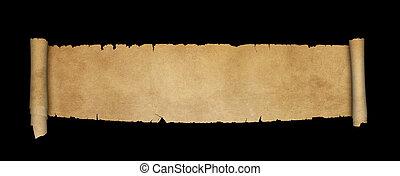 antieke , achtergrond., black , boekrol, perkament