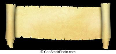 antieke , achtergrond., black , boekrol