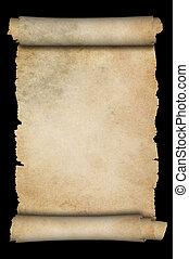 antieke , achtergrond., black , perkament, boekrol