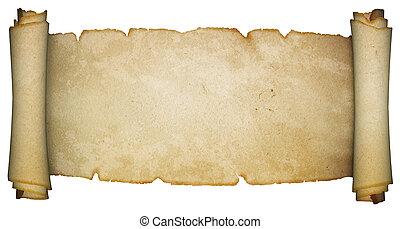 antieke , achtergrond., witte , boekrol, perkament