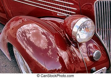 antieke auto, detail