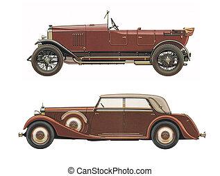 antieke , auto's, classieke