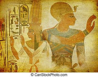 antieke , behang, kunst, egyptisch