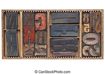 antieke , brieven, en, getallen