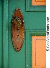 antieke , deur knop