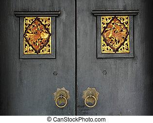 antieke , deur
