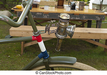 antieke , fiets, lamp