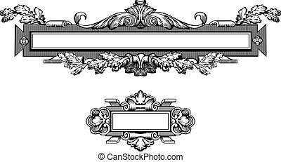 antieke , frame, editable, scalable, illustratie, vector, ...