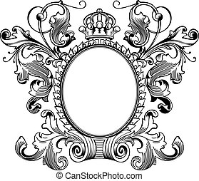 antieke , frame, editable, scalable, illustratie, vector,...