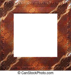 antieke , frame, metaal