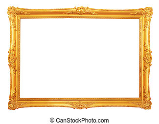 antieke , frame, oud, goud