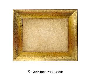 antieke , frame, vrijstaand, op wit