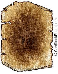 antieke , gedetailleerd, pagina, grunge, ouderwetse , textuur, hoog, papier, achtergrond, textured, boekrol, perkament