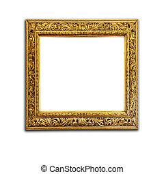 antieke , gouden, fotolijst