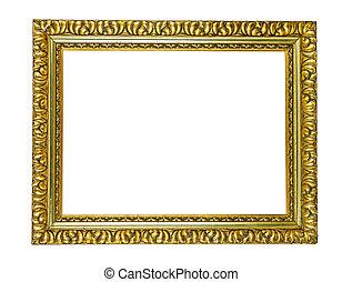 antieke , gouden, frame, afbeelding