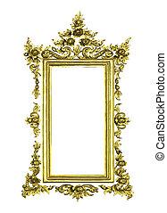 antieke , gouden, frame, vrijstaand