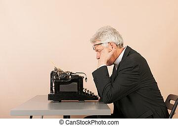 antieke , hogere mens, typemachine