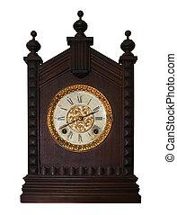 antieke , houten, klok