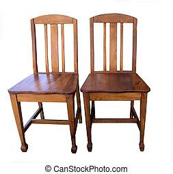 antieke , houten, stoelen