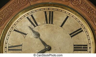 antieke , klok, de tijdspanne van de tijd, 01