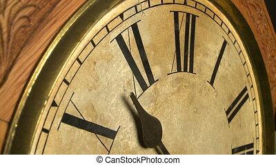 antieke , klok, de tijdspanne van de tijd, 02