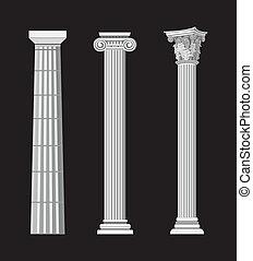 antieke , kolommen