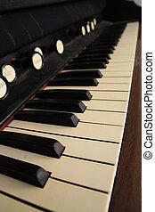 antieke , orgaan, toetsenbord