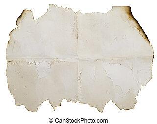 antieke , papier, aangebrand
