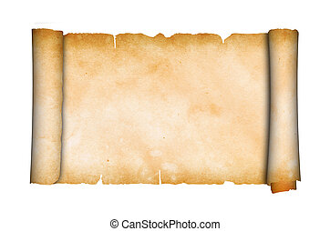 antieke , parchment., boekrol