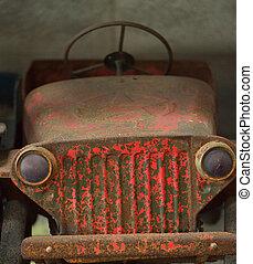 antieke , pedaal, close-up, detail, auto