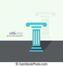antieke , pedestal., column.