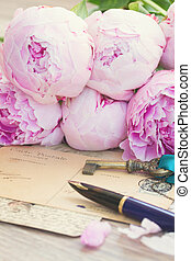 antieke , pen, brieven, slagpen