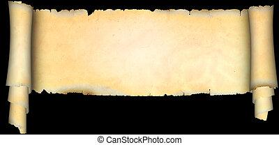 antieke , perkament, scroll.