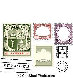 antieke , postzegel