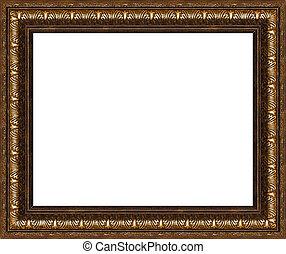 antieke , rustiek, frame, vrijstaand, afbeelding