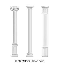 antieke , steen, realistisch, vector, marmer, kolommen