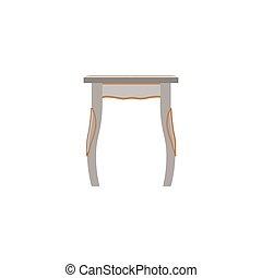 antieke , stijl, silhouette, ouderwetse , koninklijk, vrijstaand, illustratie, vector, stoel, meubel, pictogram