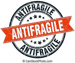 antifragile round grunge ribbon stamp