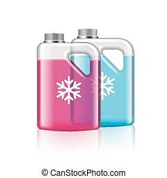 antifreeze, isolato, bianco, vettore