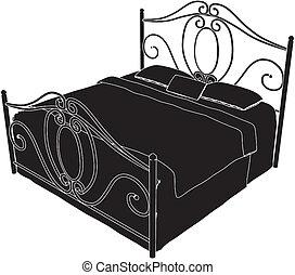 antigüedad, cama