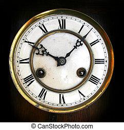 antigüedad, cara de reloj