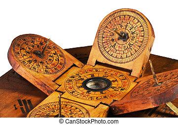 antigüedad, chino, sundial