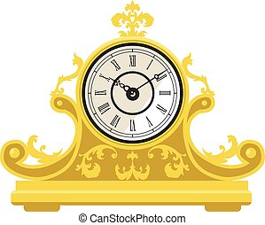 antigüedad, clock.eps
