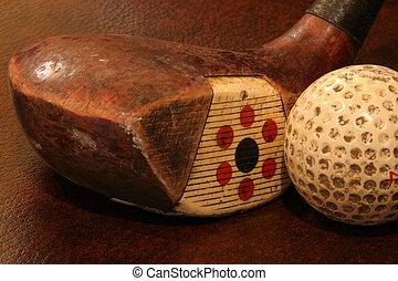 antigüedad, club, golf