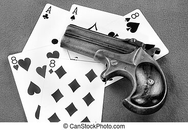 antigüedad, derringer, pistol.